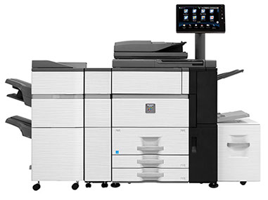Sharp MX-6500N Color Networked MFP 65ppm full color high speed document system at discounted prices.