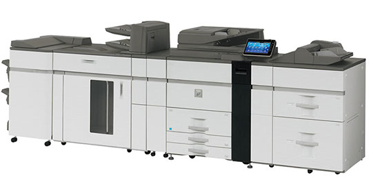 Sharp MX-M1204 Digital MFP 120 ppm high-speed black and white workgroup document system at discounted prices.
