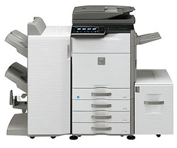 Sharp MX-M565N Digital MFP 56 ppm black and white networked workgroup document system