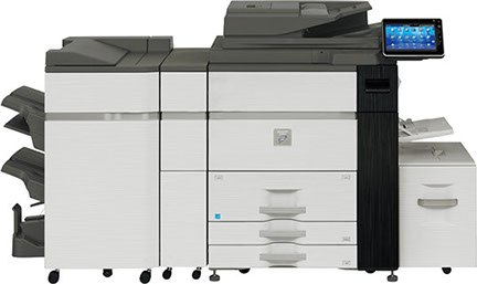 Sharp MX-M904 Digital MFP 90 ppm black and white workgroup document system at discounted prices.
