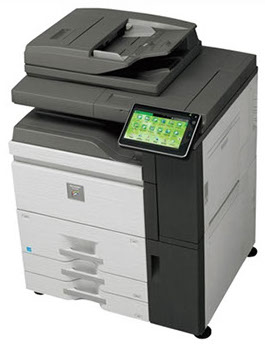 Sharp MX-6240 Color Networked MFP 62 ppm high speed color document system at discounted prices.