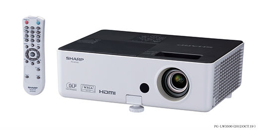 Sharp PG-LW3500 DLP Multimedia Projector at discouted prices. School and government specials.